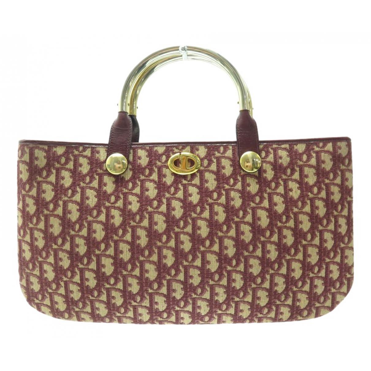Dior \N Handtasche in  Bordeauxrot Leinen