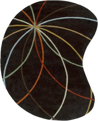 Forum FM-7141 8' x 10' kidney Modern Rug in