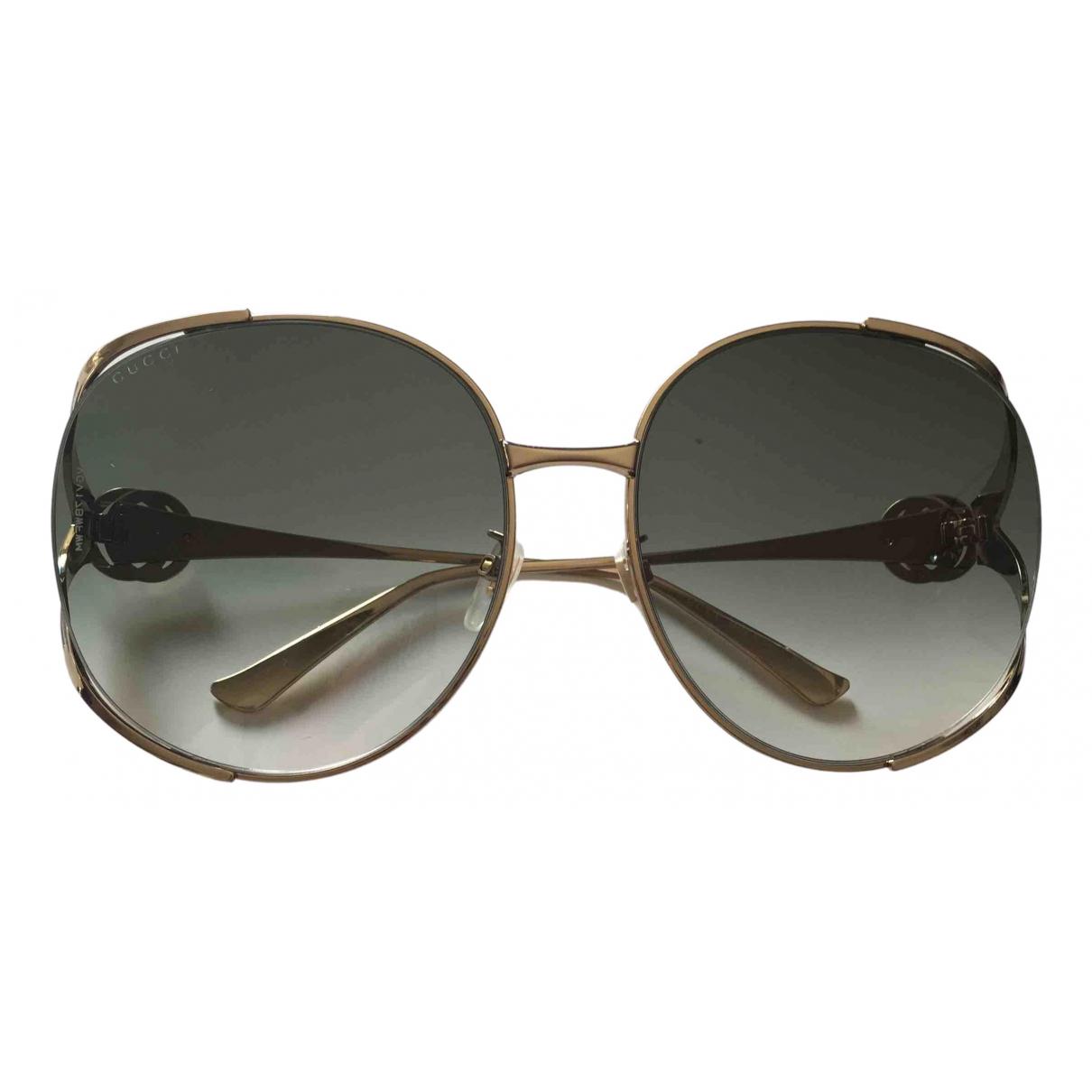 Gucci \N Sonnenbrillen in  Gold Metall