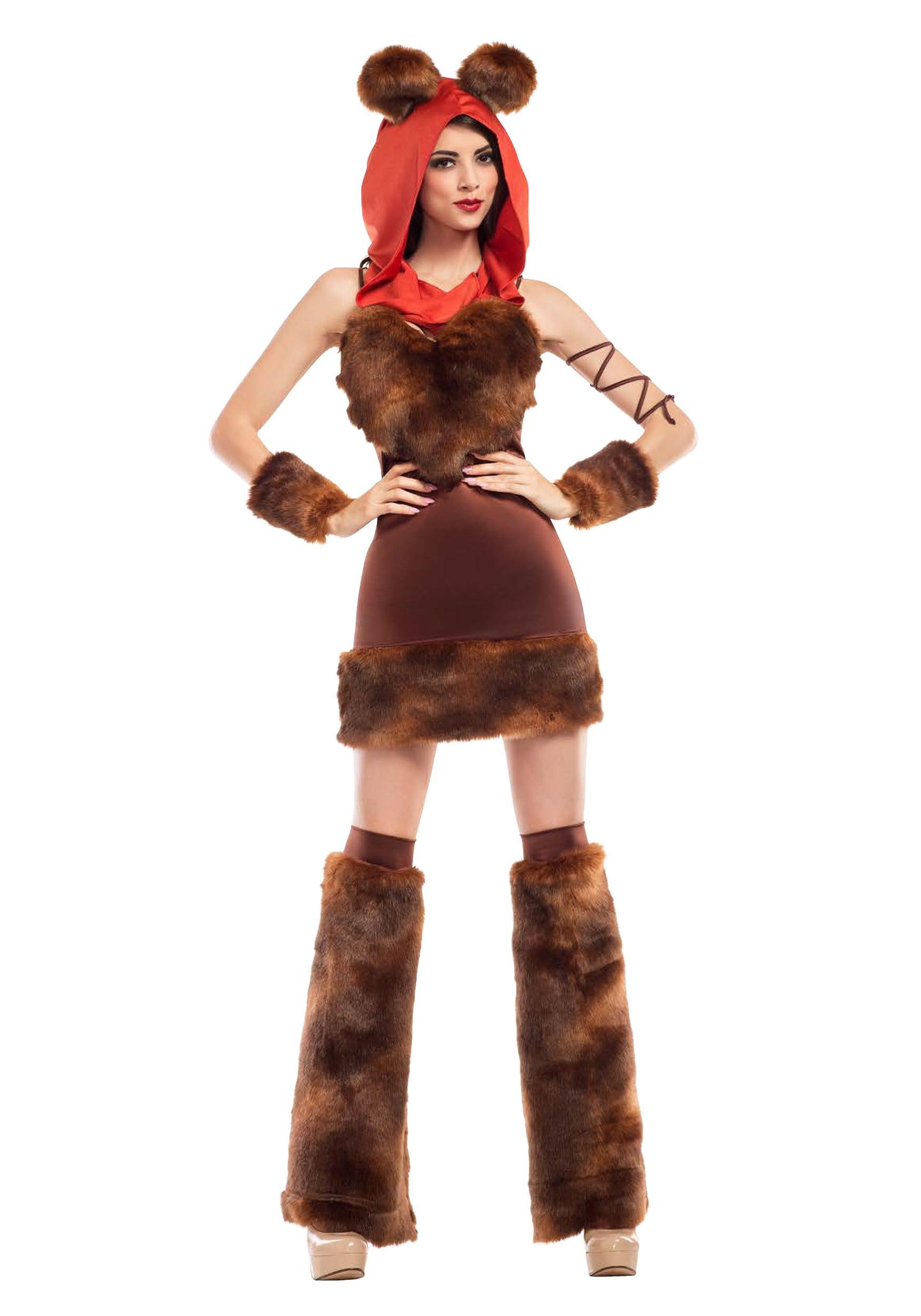 Women's Cute Furry Space Creature Costume