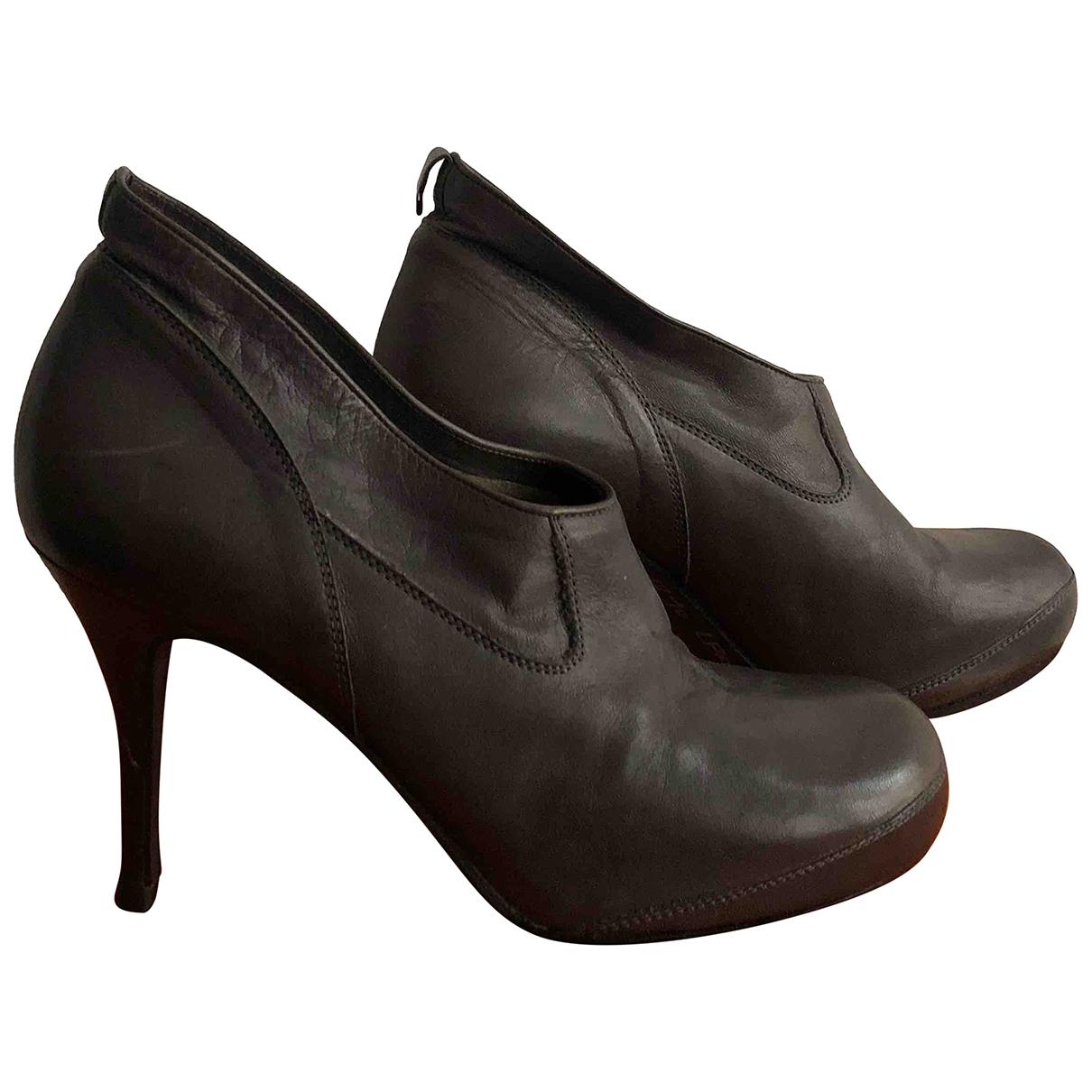 Rick Owens - Boots   pour femme en cuir - gris
