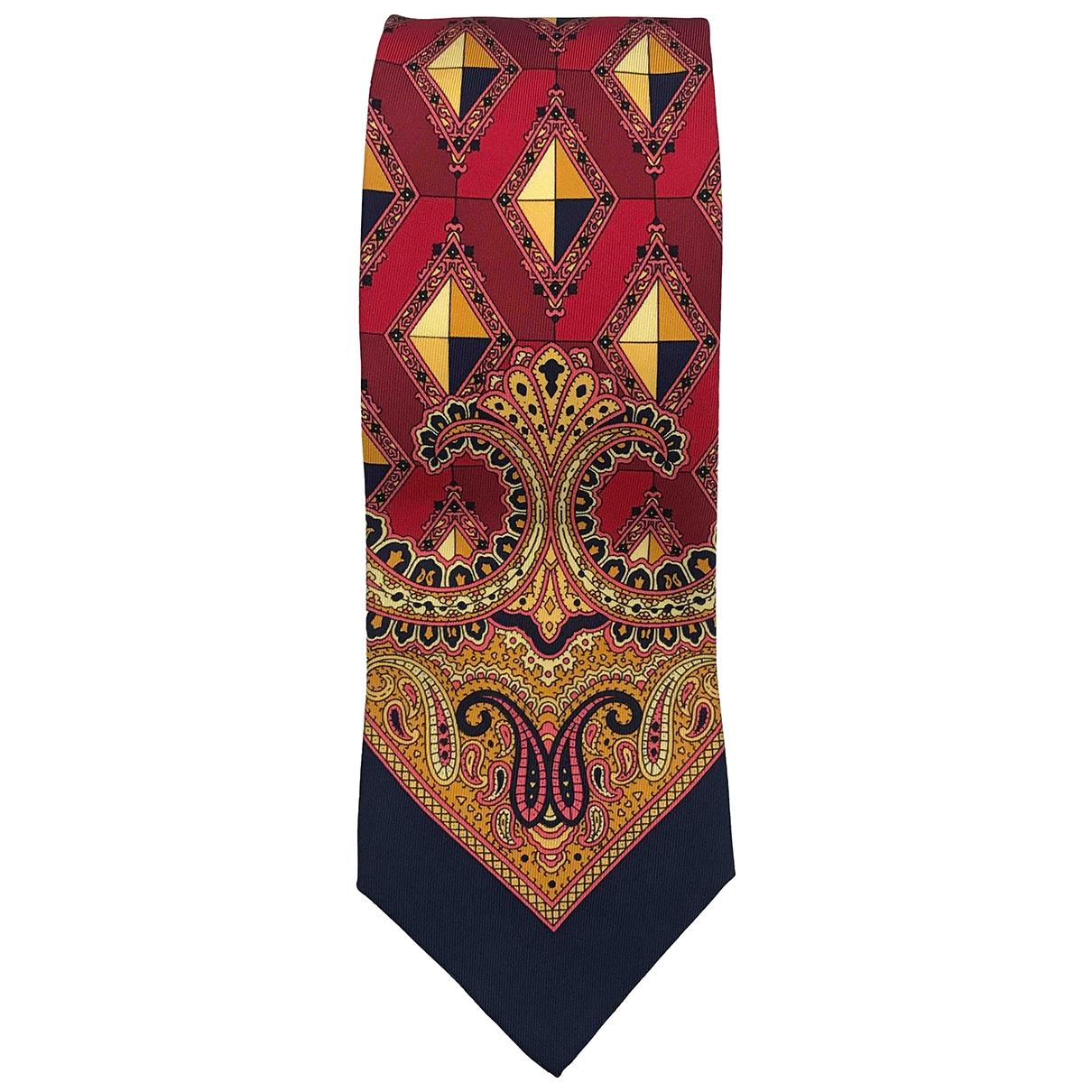 Gianni Versace \N Krawatten in  Rot Seide