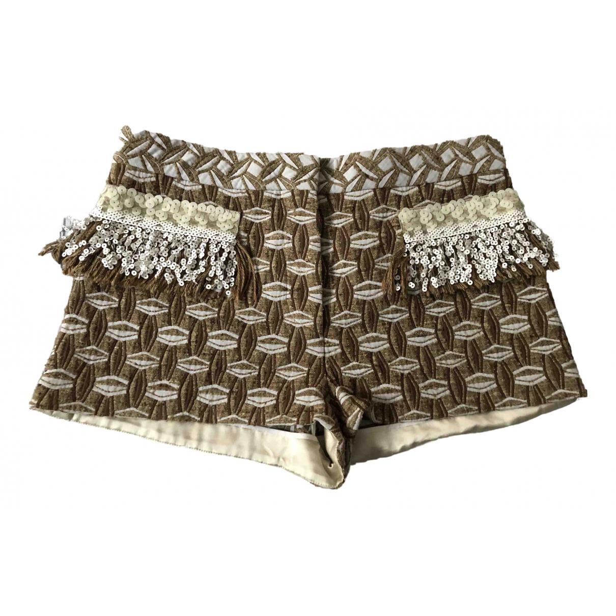 Louis Vuitton - Short   pour femme en soie - beige