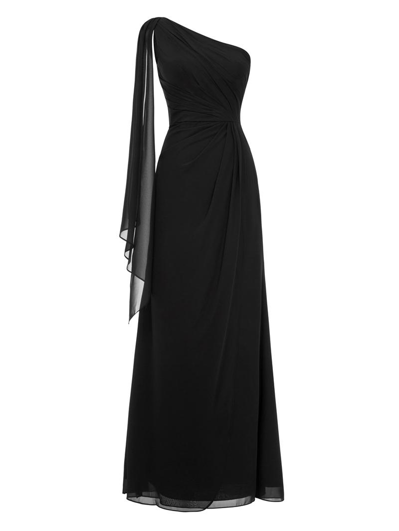 Ericdress One Shoulder Pleats Chiffon Long Evening Dress