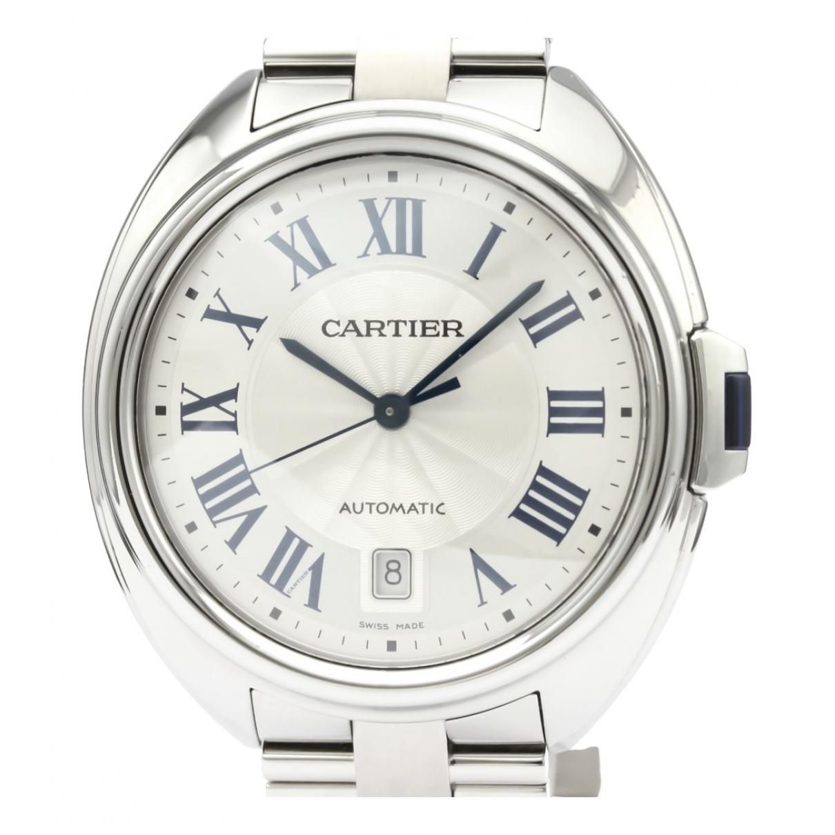 Cartier - Montre Cle pour homme en acier - argente