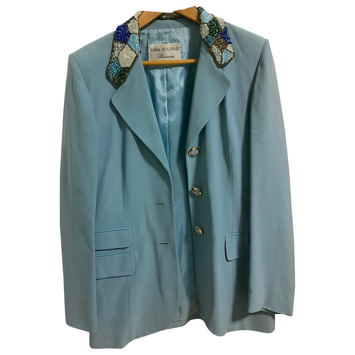 Anna Molinari \N Turquoise jacket for Women 46 IT