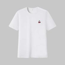 Camiseta con bordado de cereza