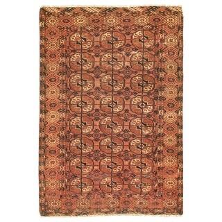 ECARPETGALLERY  Hand-knotted Vintage Tribal Dark Copper Wool Rug - 2'9 x 4'1 (Dark Copper - 2'9 x 4'1)