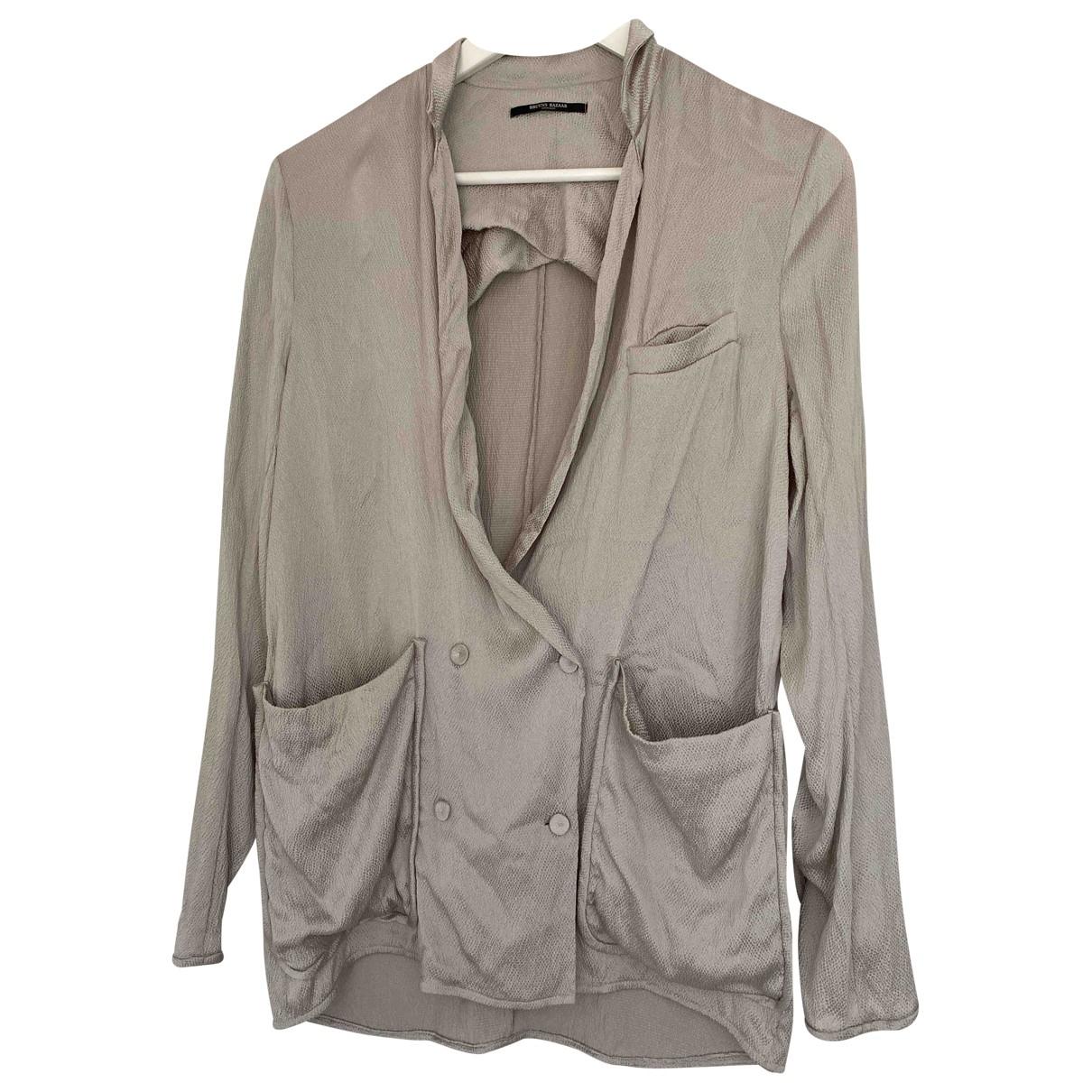 Bruuns Bazaar - Veste   pour femme en soie - gris
