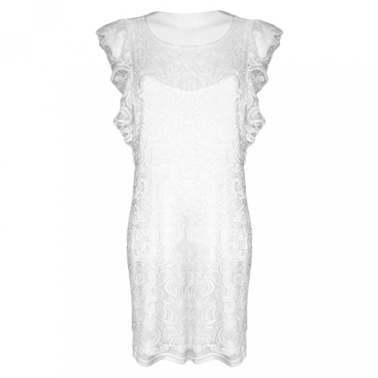 Stefanel \N Kleid in  Weiss Polyester