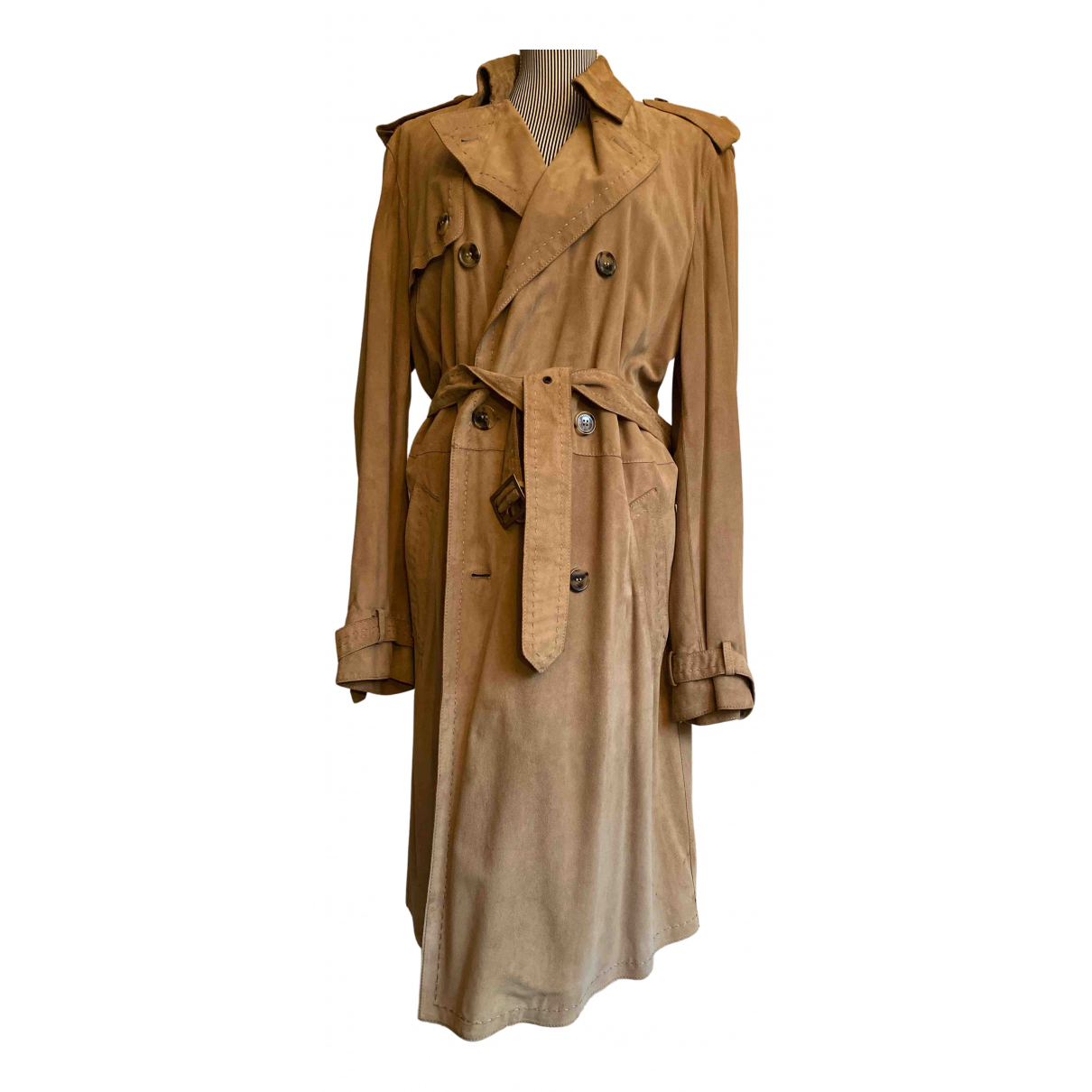 Valentino Garavani N Camel Suede coat  for Men L International