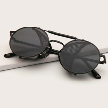 Guys Top Bar Round Sunglasses