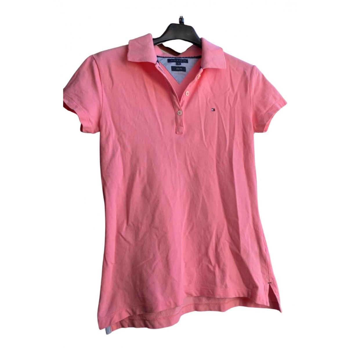 Tommy Hilfiger - Top   pour femme en coton - rose