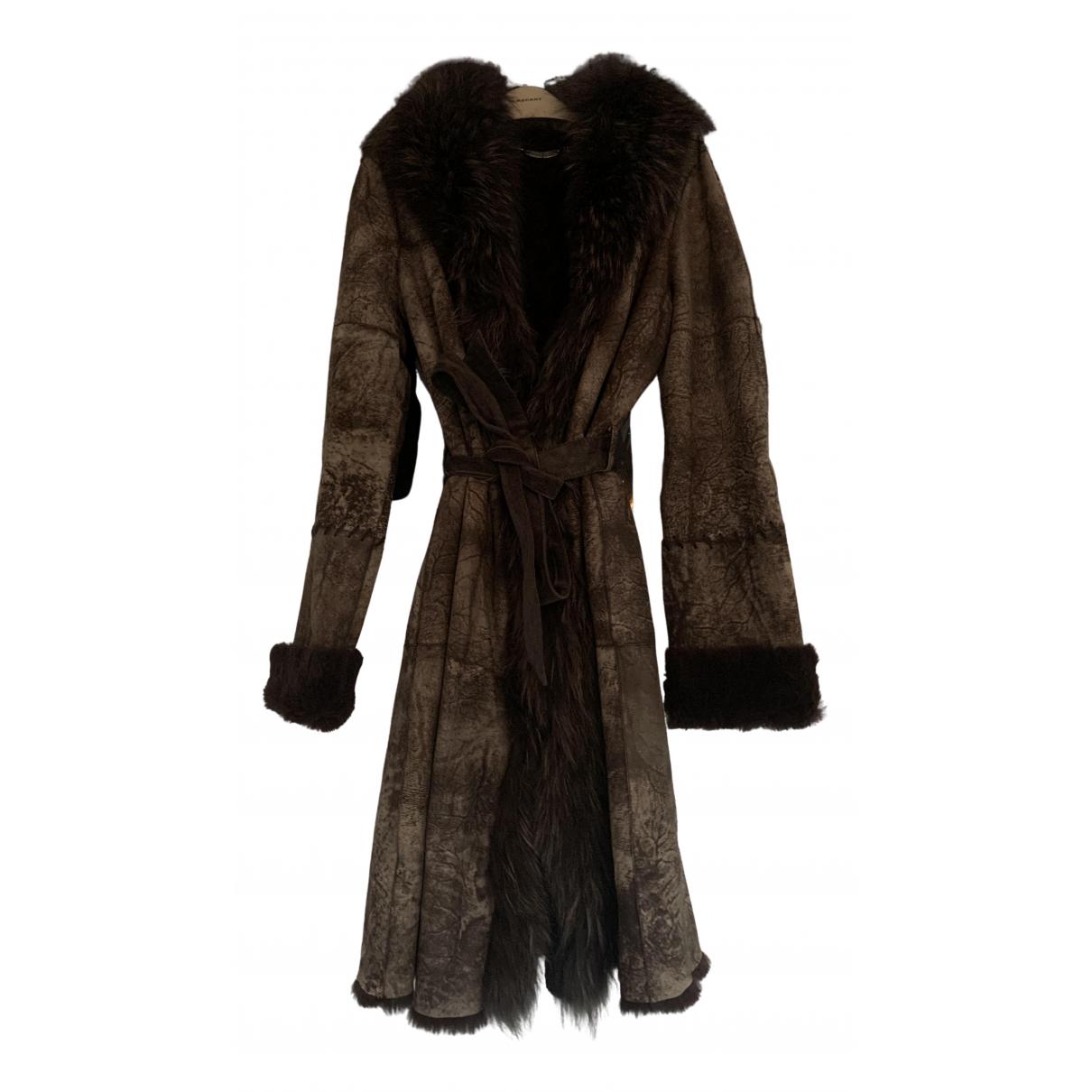 Marella - Manteau   pour femme en cuir - marron