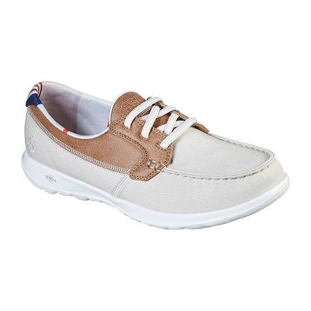 Skechers Go Walk Lite - Playa Vista Womens Walking Shoes, 9 Medium, Beige