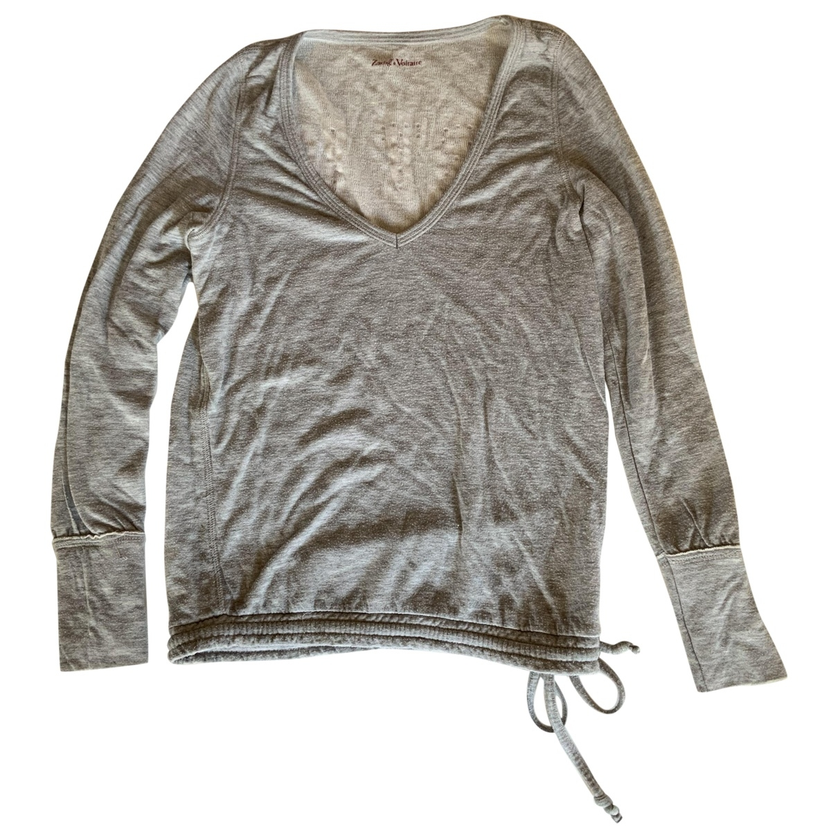 Zadig & Voltaire \N Grey Cotton Knitwear for Women S International