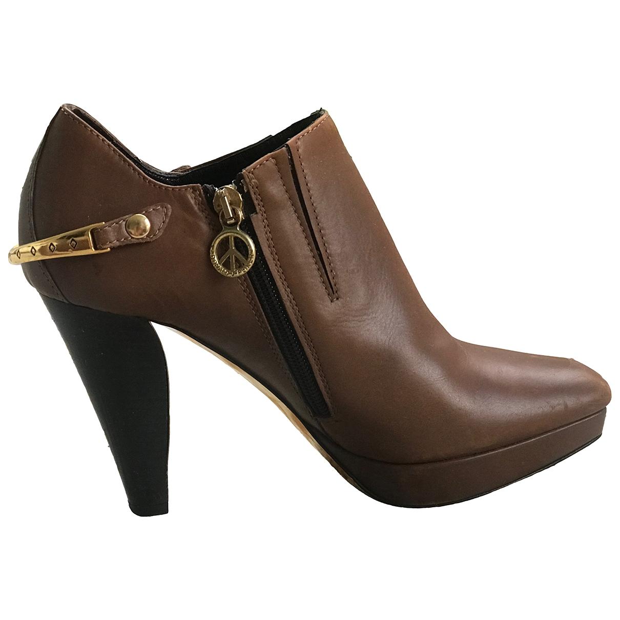 Russell & Bromley - Boots   pour femme en cuir - marron