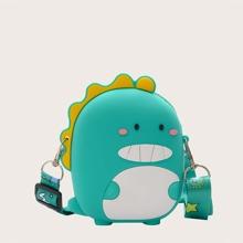 Kids Cartoon Dinosaur Shaped Crossbody Bag