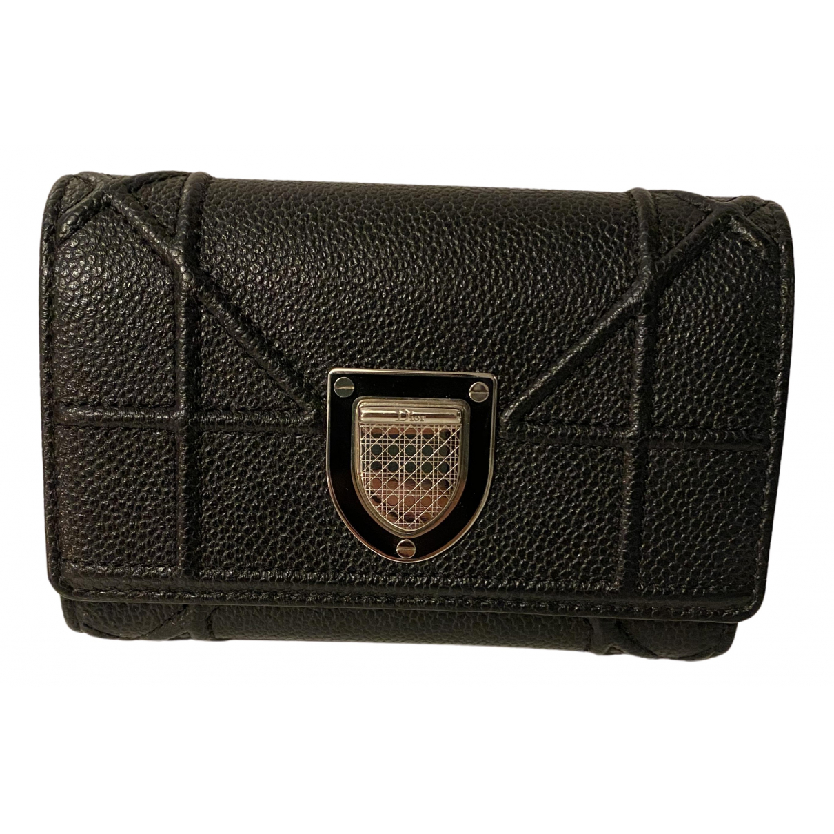 Dior Diorama Black Leather wallet for Women \N