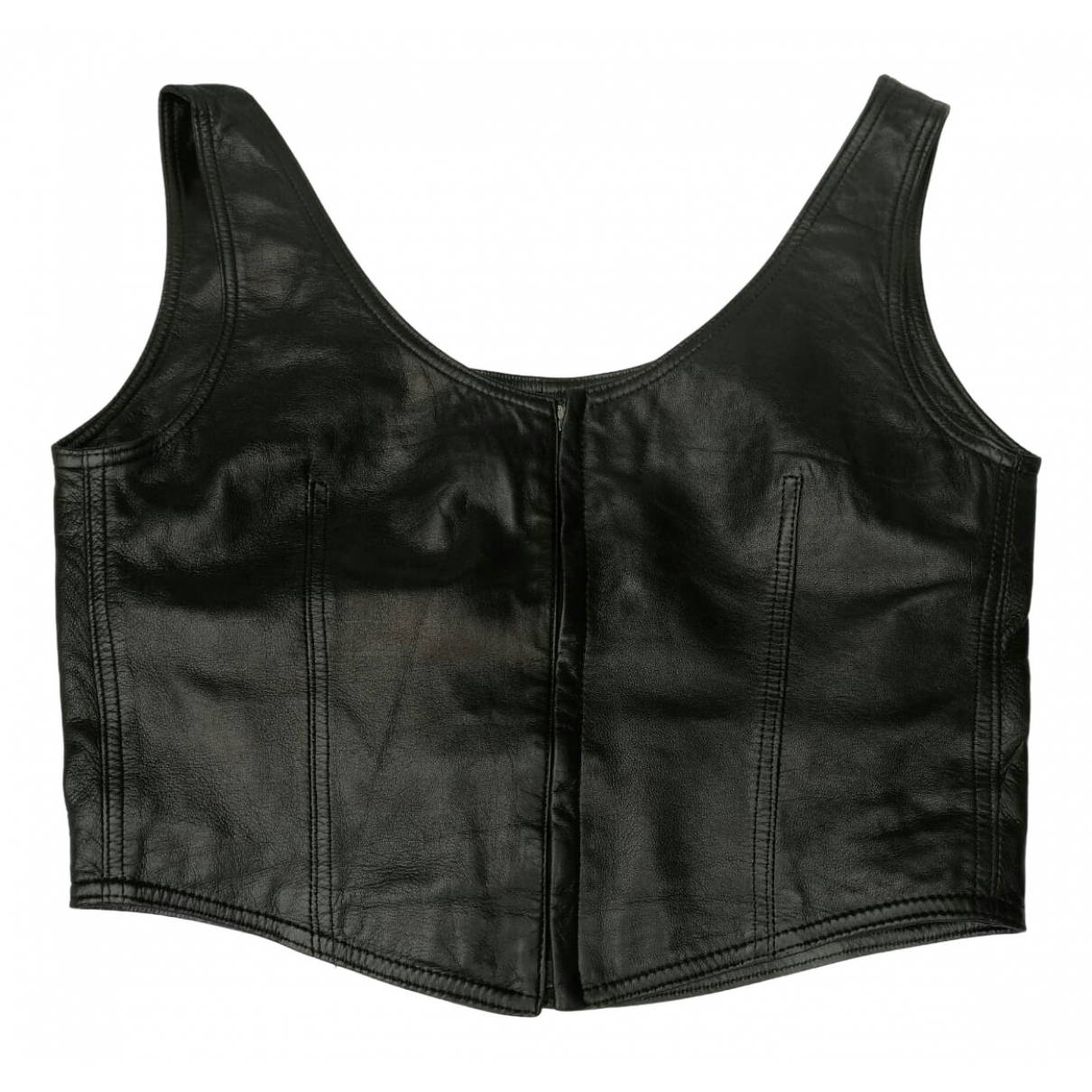 Gianni Versace \N Brown Leather  top for Women 38 FR
