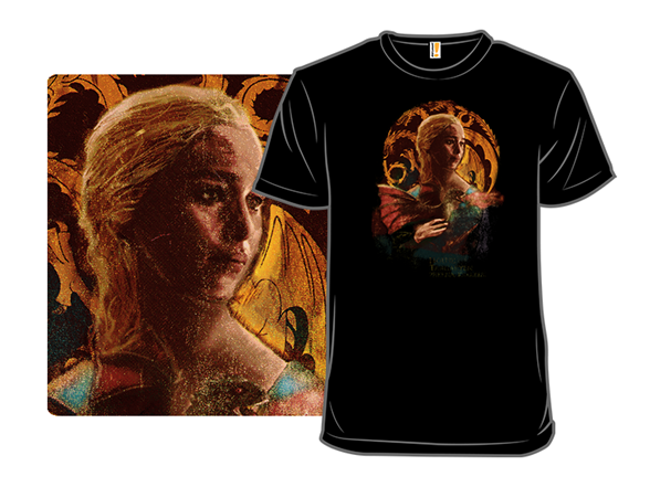 A Lady With Dragon T Shirt