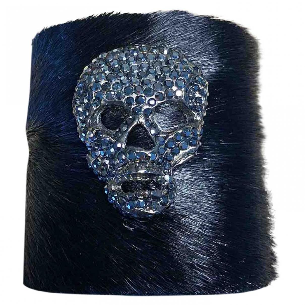 Simonetta Ravizza \N Black Fur bracelet for Women \N