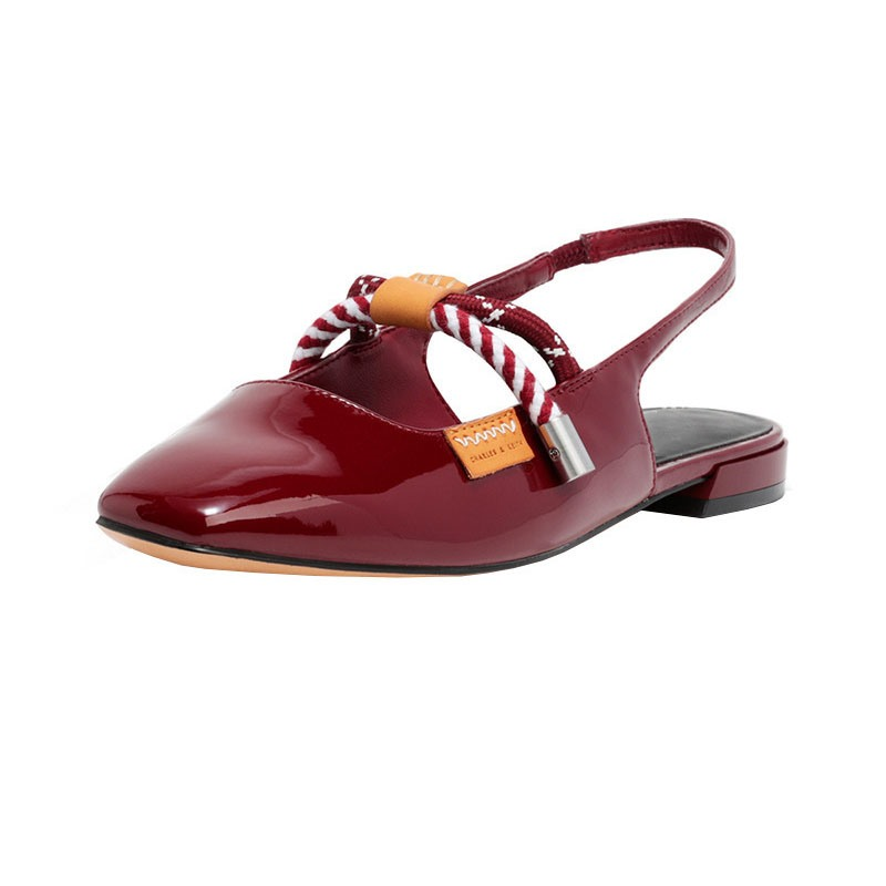 Ericdress Slip-On Block Heel Square Toe Bow Sandals