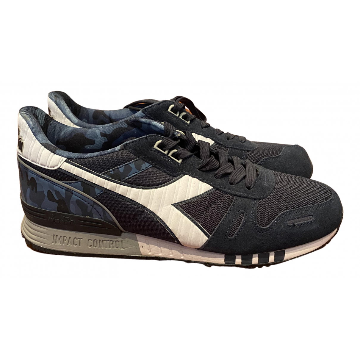 Diadora N Blue Leather Trainers for Men 10 US