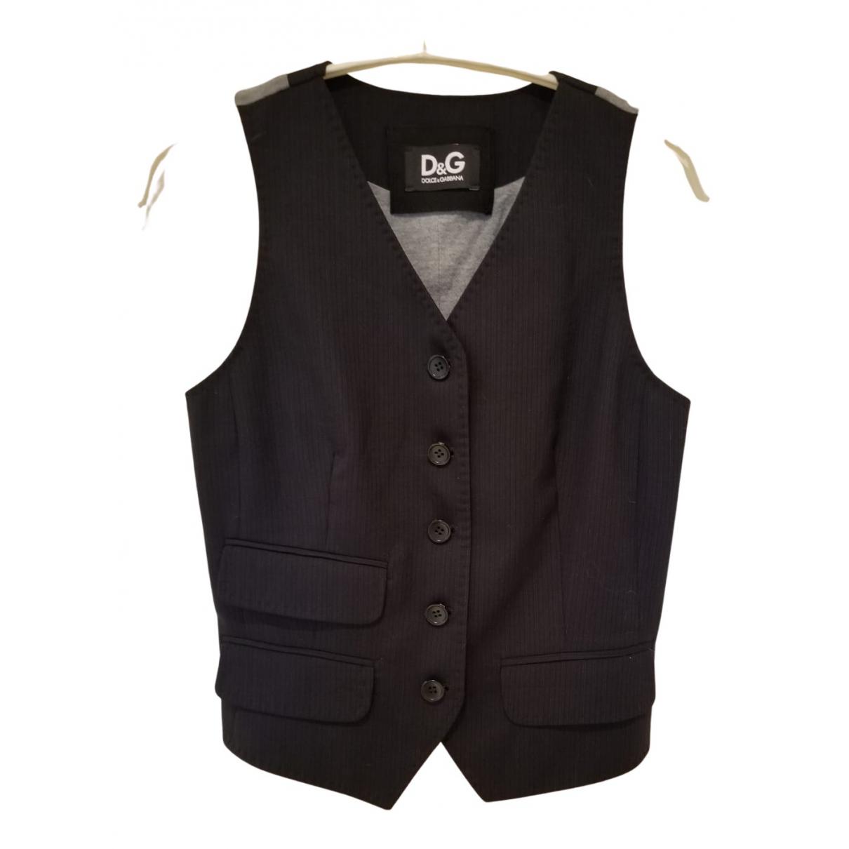D&g N Black Wool Knitwear for Women 40 IT