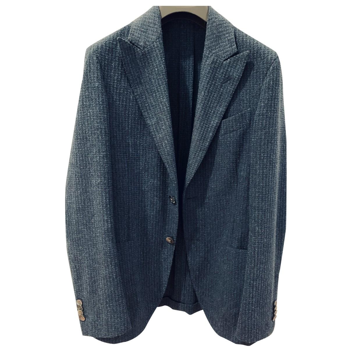 Drumohr - Vestes.Blousons   pour homme en coton - bleu