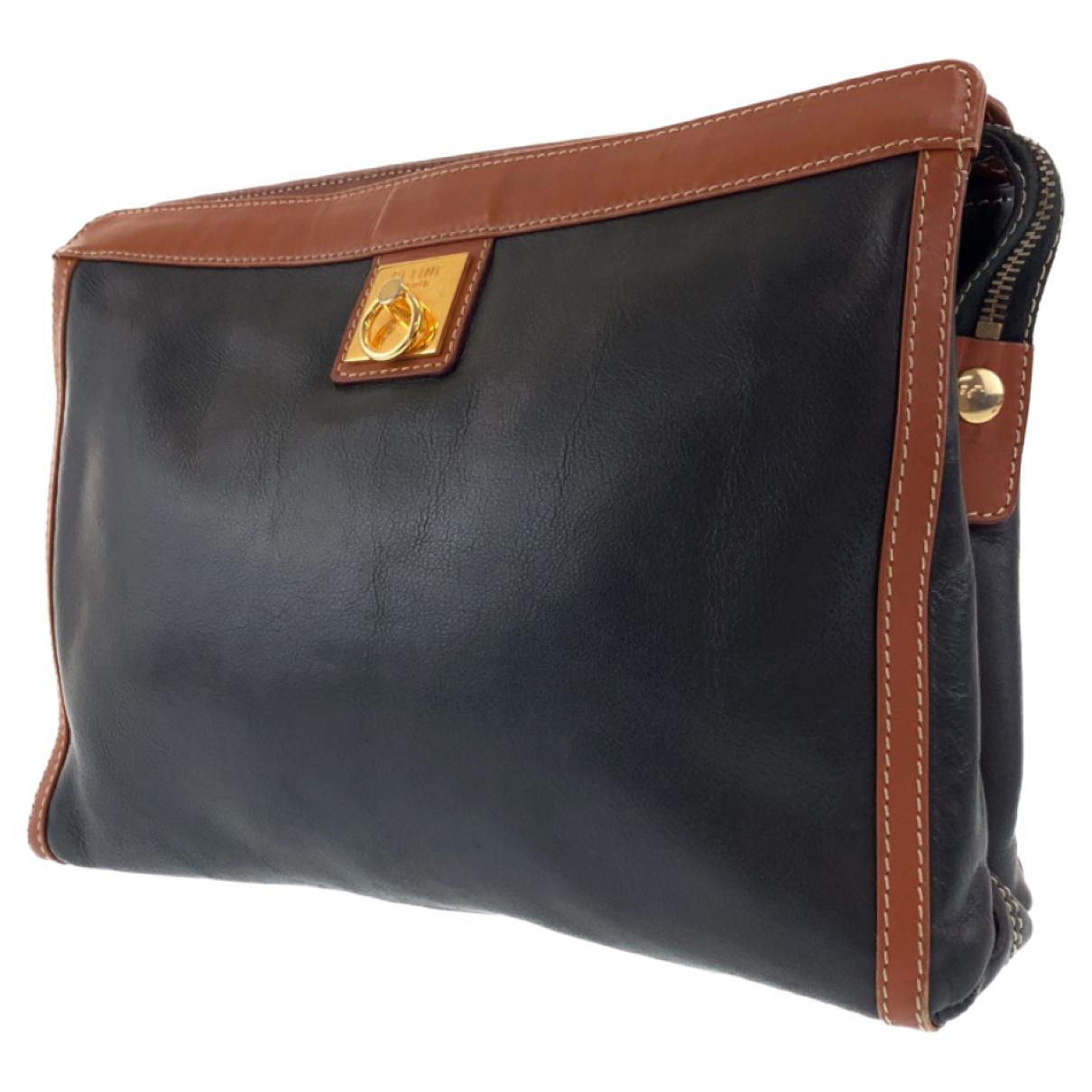 Celine \N Leather Small bag, wallet & cases for Men \N