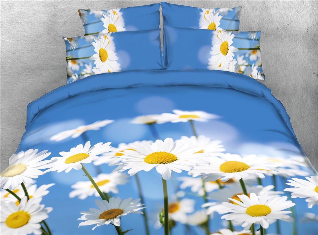Sea Shark Blue Ocean Printed 4-Piece 3D Bedding Sets/Duvet Covers