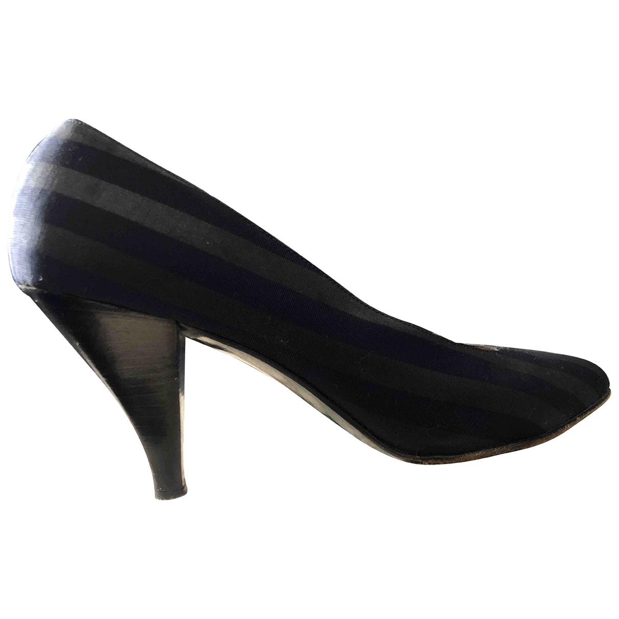 Sergio Rossi \N Blue Cloth Heels for Women 39.5 EU