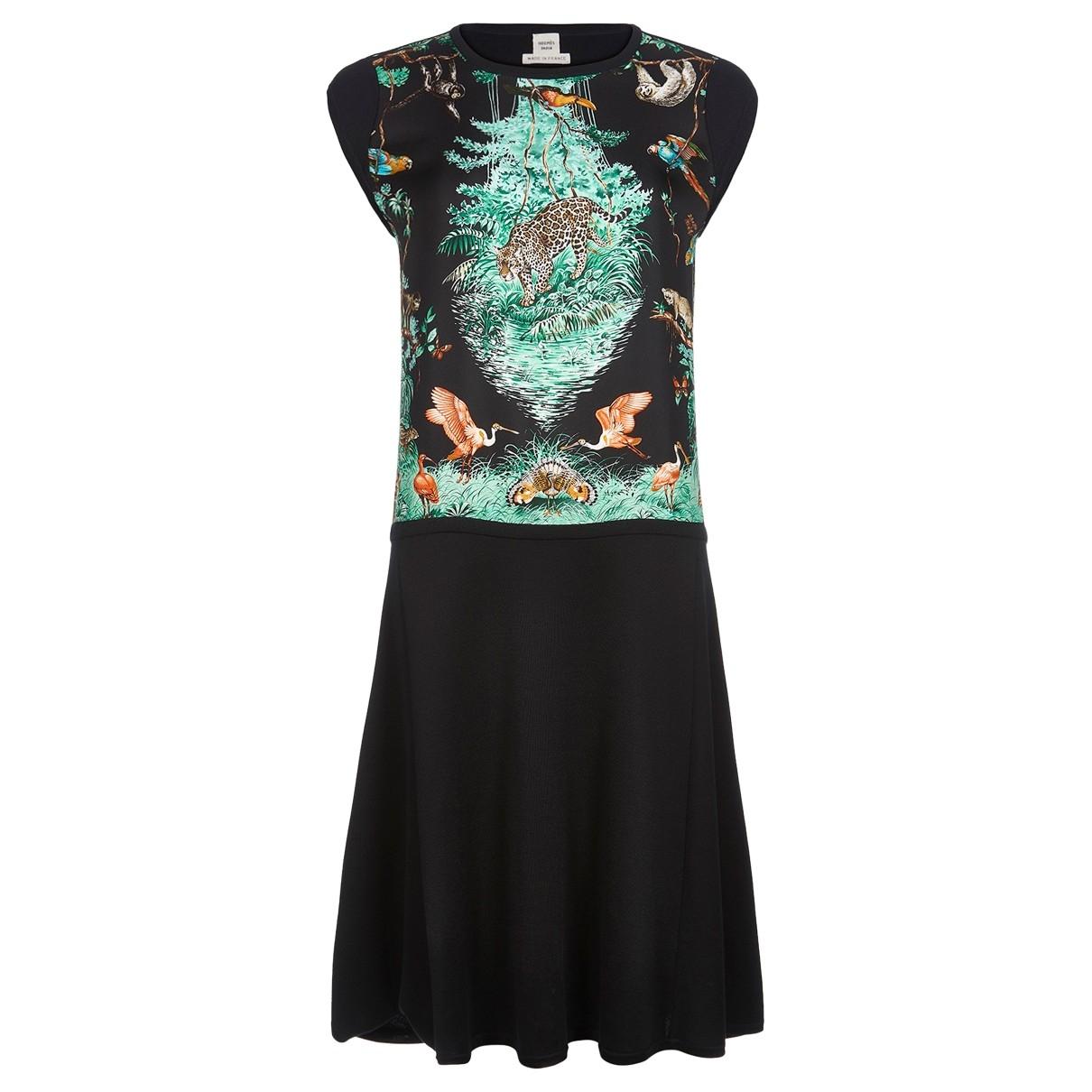 Hermes \N Kleid in  Schwarz Wolle