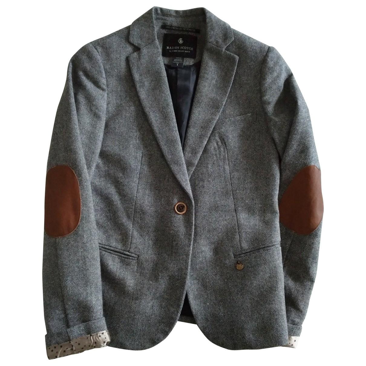 Maison Scotch \N Grey Wool jacket for Women S International