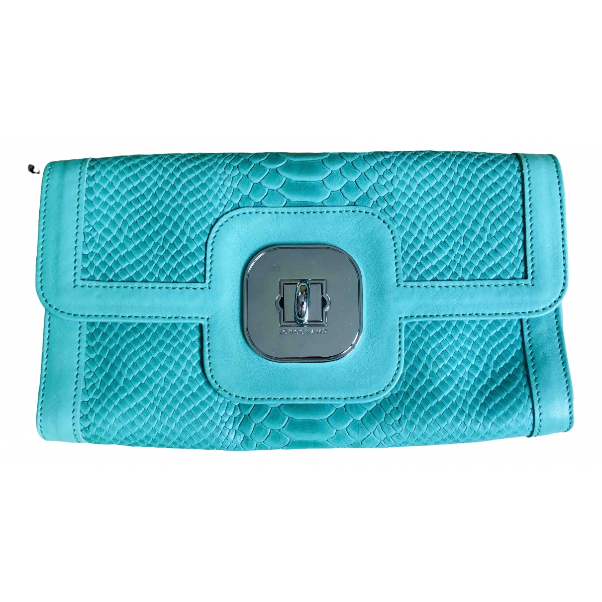 Longchamp Kate Moss Green Leather Clutch bag for Women \N