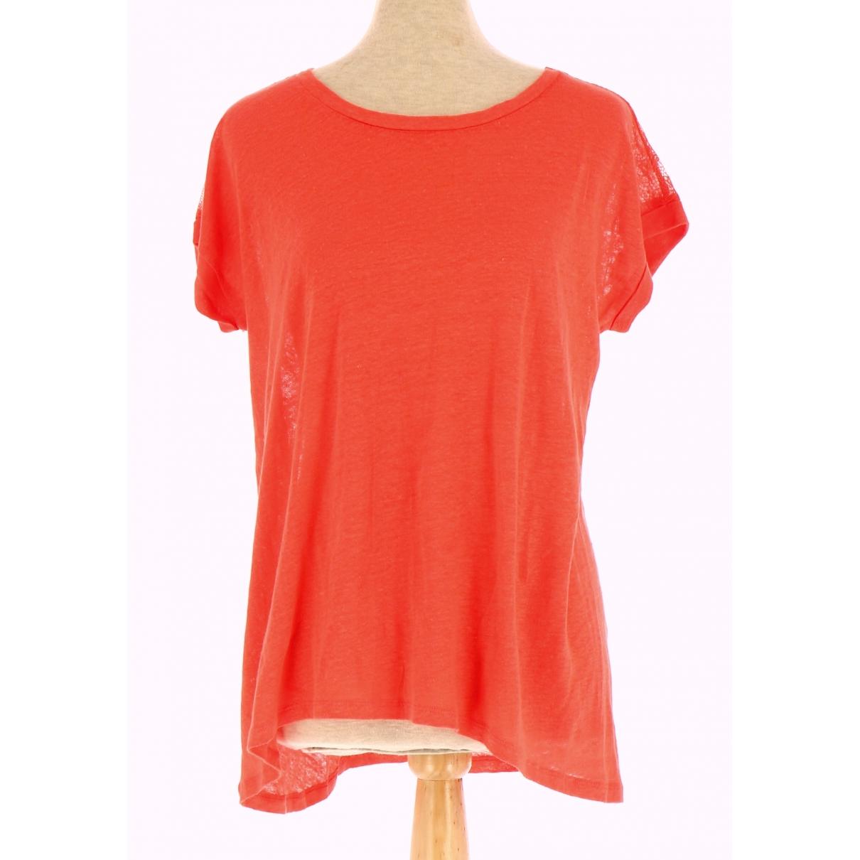 Sandro \N Orange Linen  top for Women 38 FR