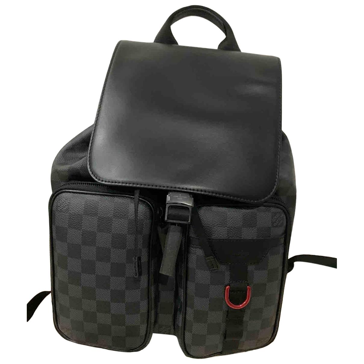 Louis Vuitton \N Taschen in  Schwarz Leinen