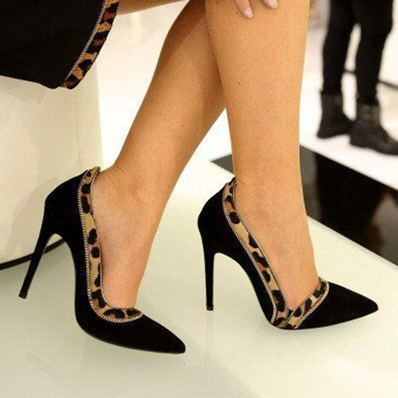 Ericdress Pointed Toe Thread Stiletto Heel Patchwork Women's Prom Shoes