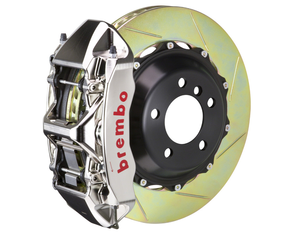 Brembo GT-R 380x32 2-Piece 6 Piston Nickel Plated Slotted Front Big Brake Kit