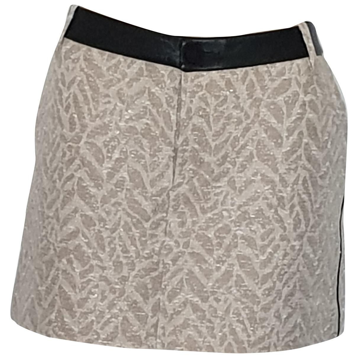 Zadig & Voltaire \N Beige Cotton skirt for Women 38 FR