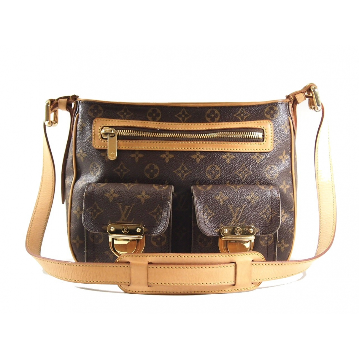 Louis Vuitton Hudson Brown Cloth handbag for Women \N