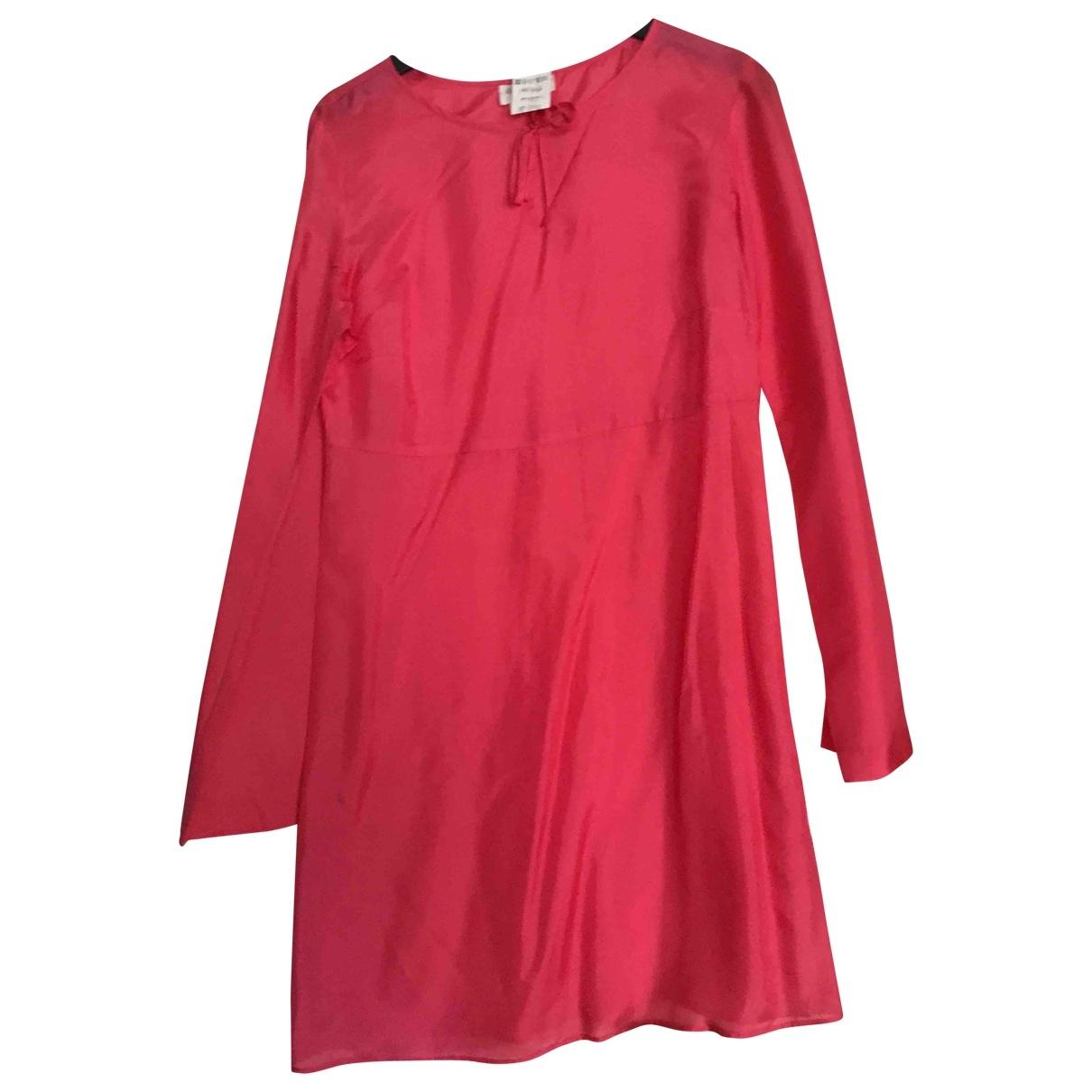 Agnès B. \N Pink Silk dress for Women 38 FR
