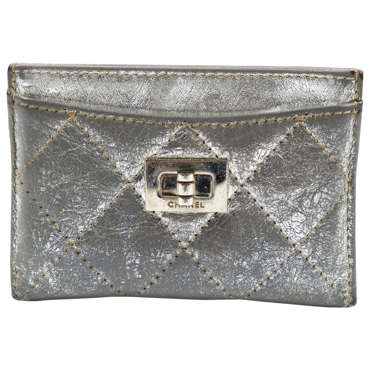 Chanel 2.55 Silver Leather Purses, wallet & cases for Women N