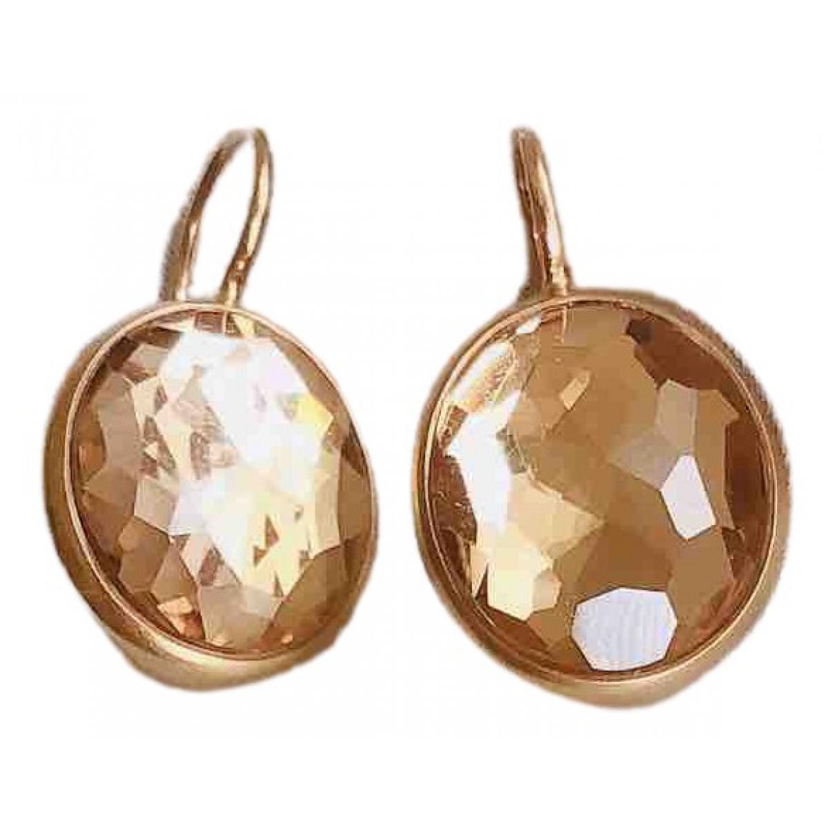 Pomellato - Boucles doreilles Narcisco pour femme en or rose - marron