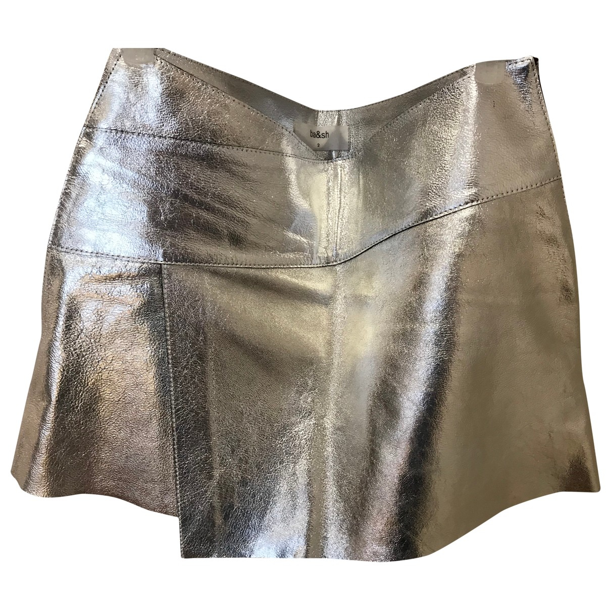 Ba&sh - Jupe   pour femme en cuir - metallise
