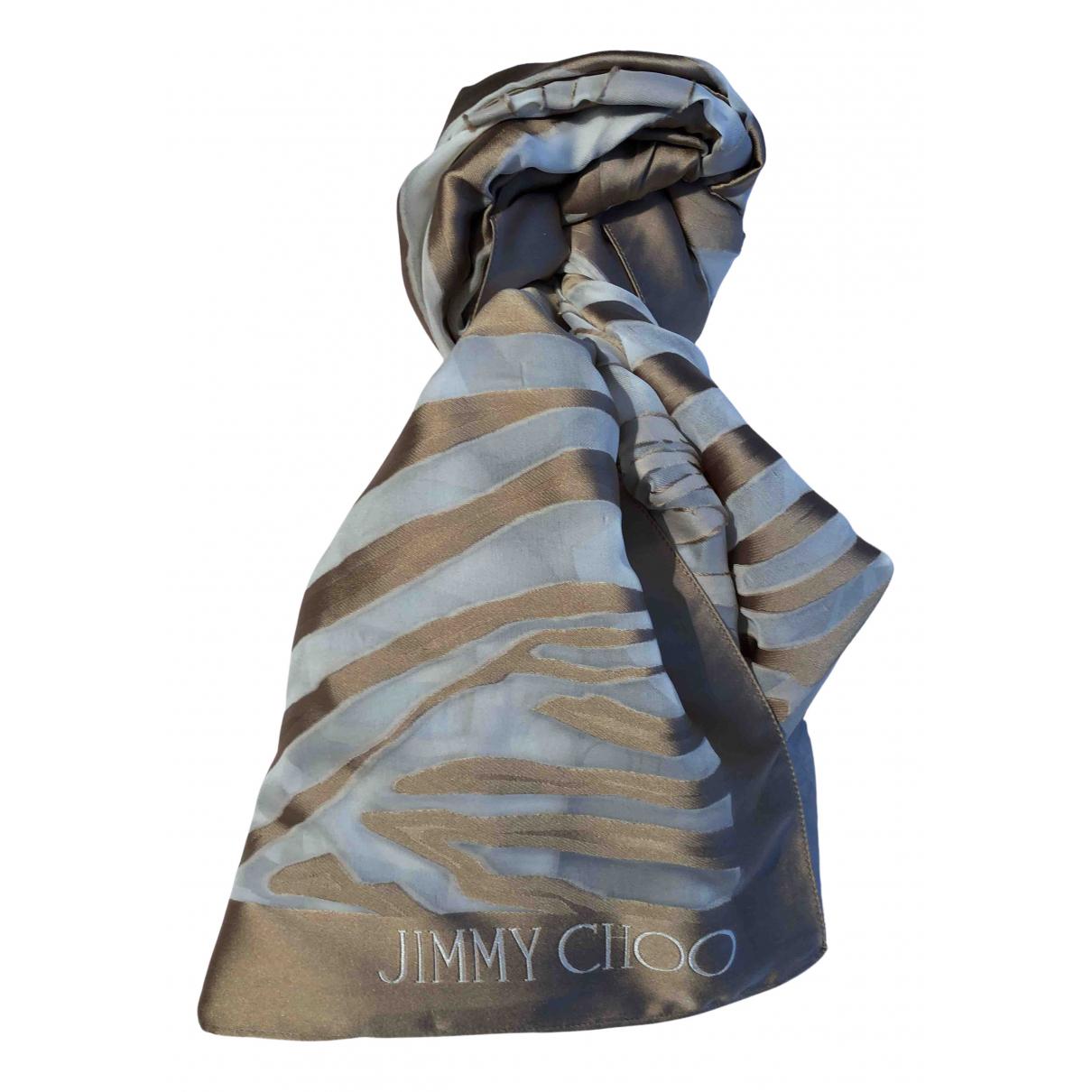Jimmy Choo \N Schal in  Beige Seide
