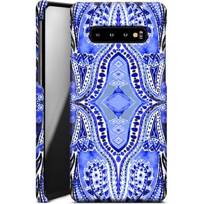 Samsung Galaxy S10 Plus Smartphone Huelle - Paisley Blue von Amy Sia