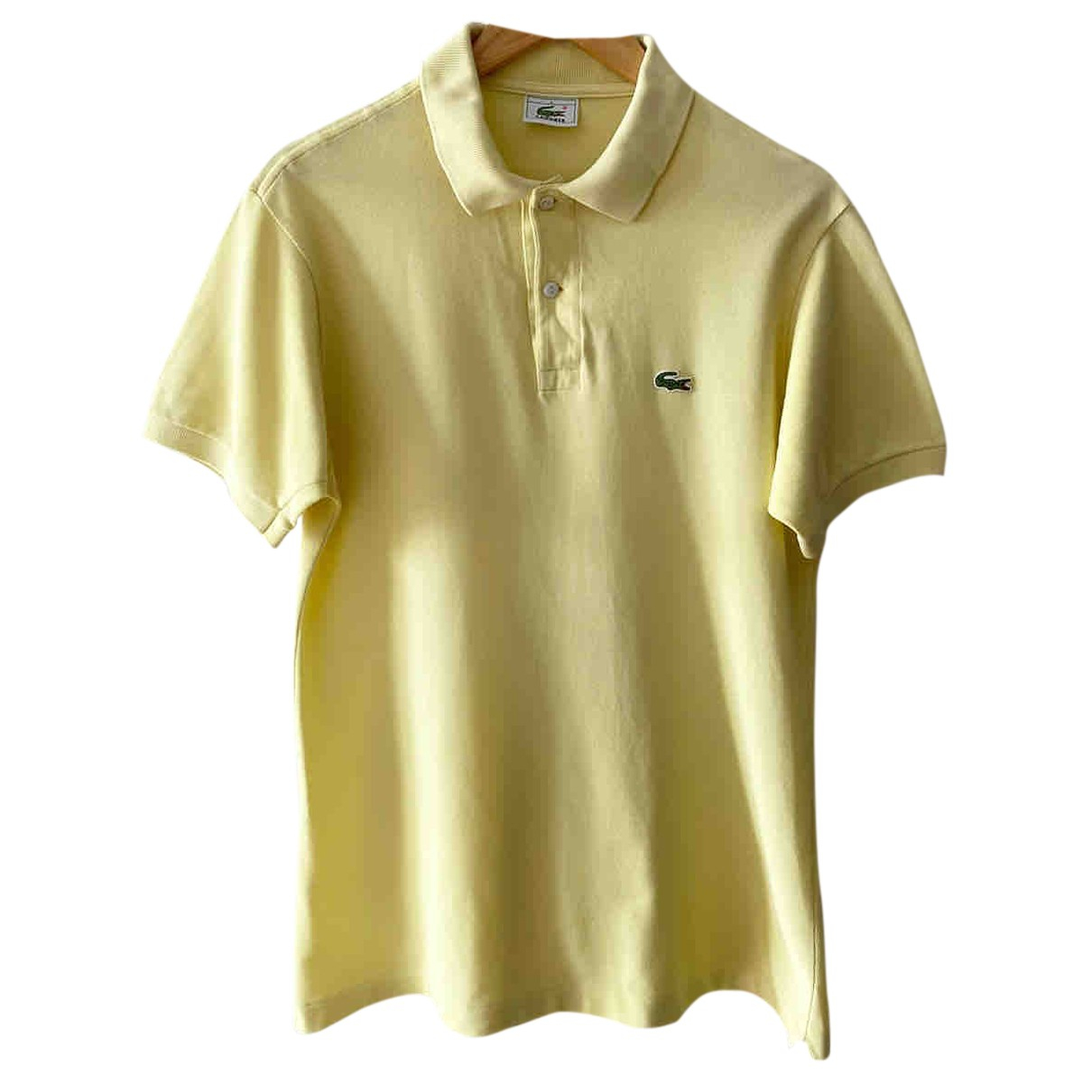 Lacoste N Yellow Cotton Polo shirts for Men M International
