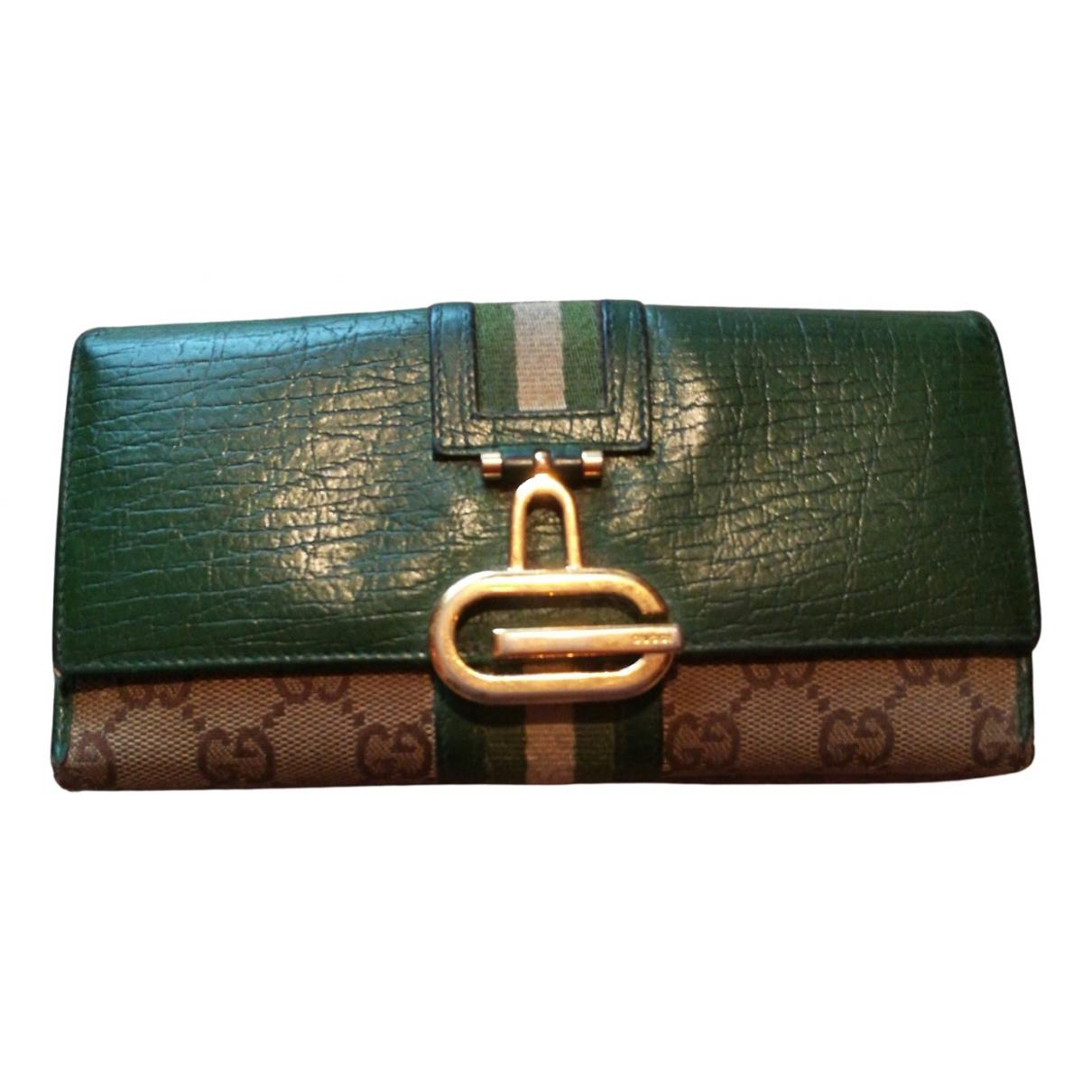 Gucci - Portefeuille   pour femme en fourrure - vert